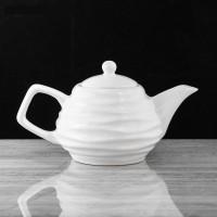 Чайник заварочный керамика Волна белый 3947594 0,8л