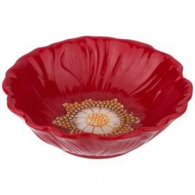 Салатник керамика Agness 358-1453 Маковый цвет  17*17*5см