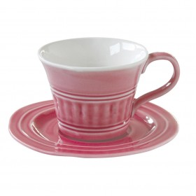 Чайная пара керамика Easy Life EL-R1872/ABDP розовая на 1 персону 2 предмета 0,4л