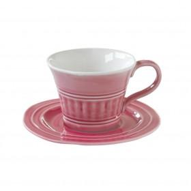 Чайная пара керамика Easy Life EL-R1866/ABDP розовая на 1 персону 2 предмета 0,25л
