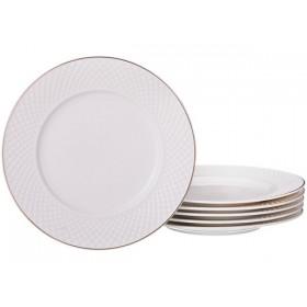 Набор десертных тарелок фарфор Lefard Диаманд Голд 359-375 19 см
