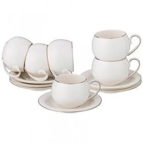 Чайный набор фарфор Lefard 374-063 на 6 персон 12 предметов