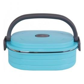 Термоконтейнер для хранения продуктов Bekker ВК-4361 пластик нержавеющая сталь голубой 0,9 л
