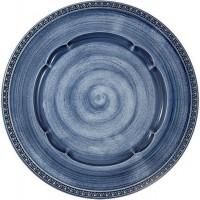 Тарелка универсальная керамика Matceramica MC-F566200328D1381 синяя 27 см