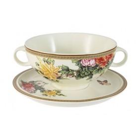 "Суповая чашка на блюдце IMARI ""Японский сад"", керамика, 0.5 л IMB0304-1730AL"