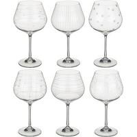 Набор бокалов для вина стекло Bohemia Crystal 674-418 6 шт / 570 мл