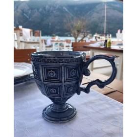 Кружка керамика Matceramica синяя MC-F566500328D1381 0,35л