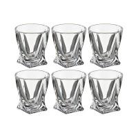 Набор стопок для крепких спиртных напитков стекло Crystalite Bohemia Quadro 669-140 6 шт 55 мл