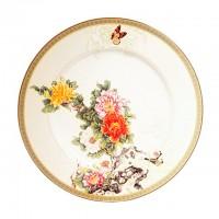 Тарелка столовая керамика IMARI Японский сад  IM35031-1730AL 23 см