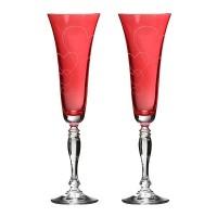 Набор бокалов для шампанского стекло Bohemia Crystal Любовь 674-112 2 шт / 180 мл