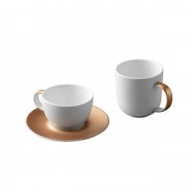 БГ 1698005 Набор д/чая/кофе 3пр белый