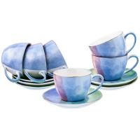 Чайный набор LEFARD 189-216 Золотой кант Парадиз микс цвета на 6 персон 12 предметов 300 мл