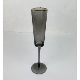 222-130 Бокал д/шампанск.серый/зол.26см