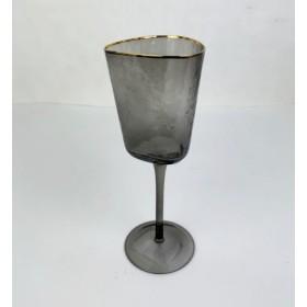 222-131 Бокал д/вина серый/зол.23см