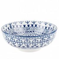 Салатник фарфор Nouvelle Home  Средиземноморье 2670014 белый с синим узором 500мл