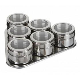 Набор для специй 6 банок на магнитах Bekker ВК-3415
