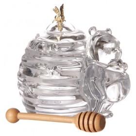 Банка для меда Мишка с палочкой Lefard 300 мл 17*12.5*11 см коллекция muza арт.355-075