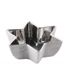 35731-SRE Миска декорированная серебренная