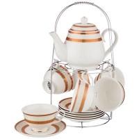 Чайный набор керамика Lefard 389-522 на 6 персон 13 предметов