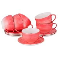 Чайный набор керамика Lefard Колор 388-579 на 6 персон 12 предметов