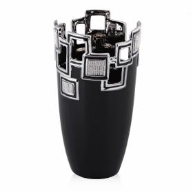 Ваза для цветов керамика Home&You 51472-CZA черная декор стразы 28 см