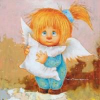 Магнит Ангел хранитель сладких снов