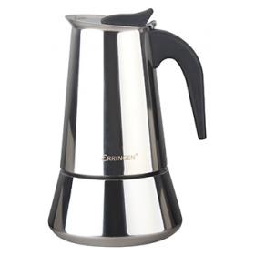 Гейзерная кофеварка Erringen ATS-PRD001-6 нержавеющая сталь 0,3 л